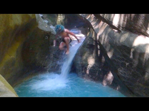 WHAT?!?! NATURAL WATER SLIDE!!!