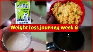 WEIGHT LOSS JOURNEY week 6||Following Dr. Shalini|| Isabgol diet|| vlog(Hindi)