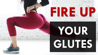 How To FIRE UP Your Glutes For Gains | Glute Activation Exercises At-Home