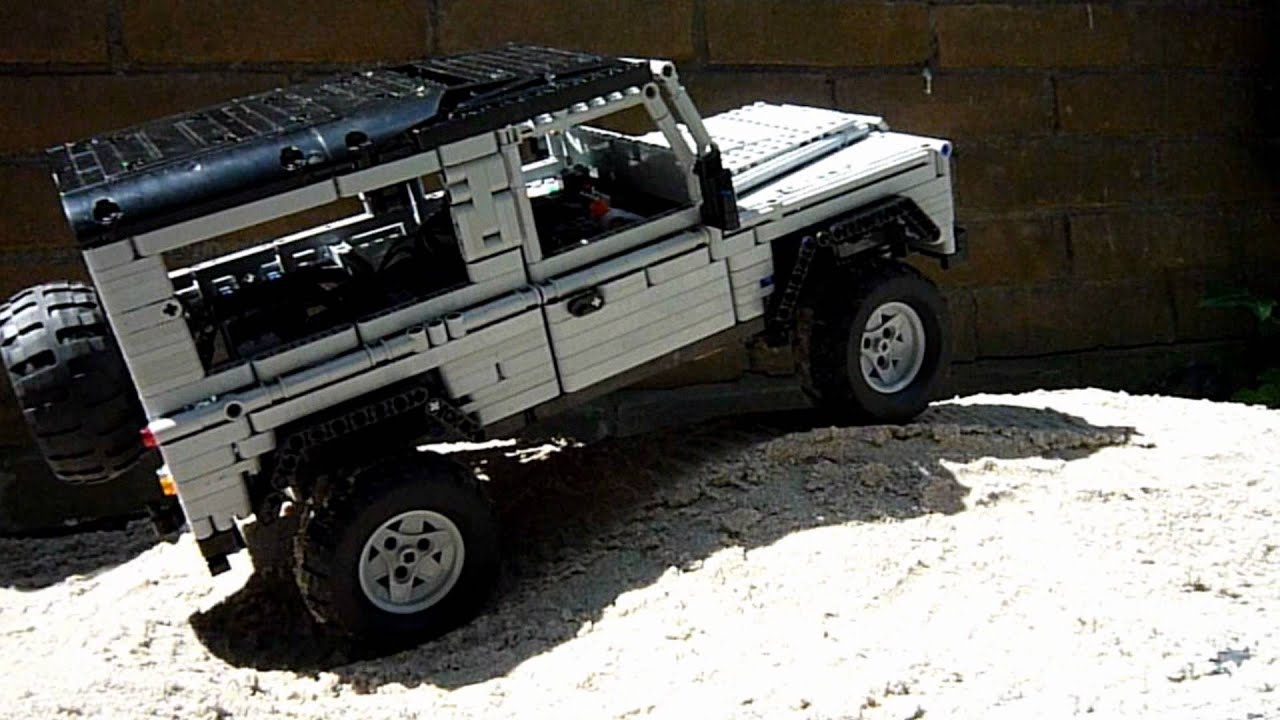 Lego Land Rover Defender 90 trailer HD