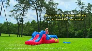 Батуты Happy Hop для детей -обзор надувных  детских батутов!