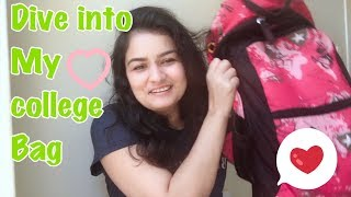 College bag of an international student | Indian girl in Australia