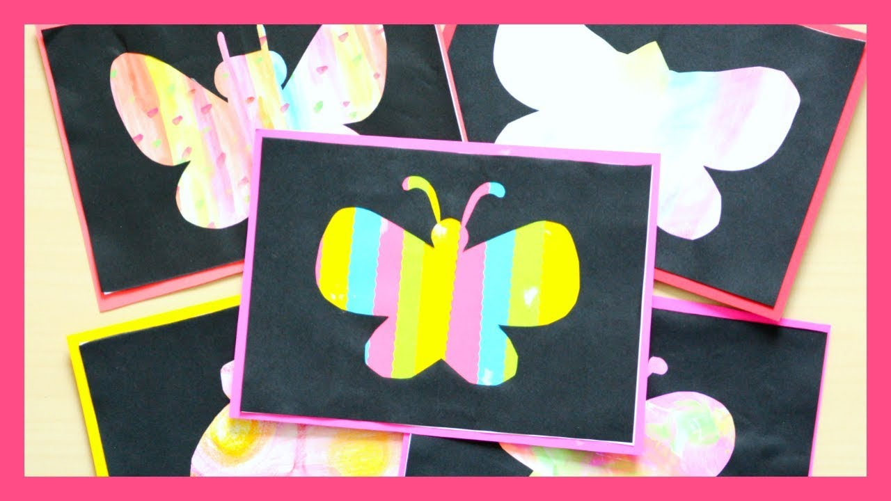 Butterfly Silhouette Art Idea For Kids Fun Spring Craft For Kids Youtube