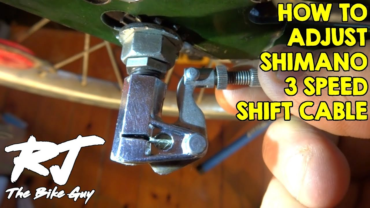 How To Connect Adjust Shift Cable On Shimano 3 Speed Hub Youtube Disc Brake Assembly Diagram And Parts List For Sears Bicycleparts