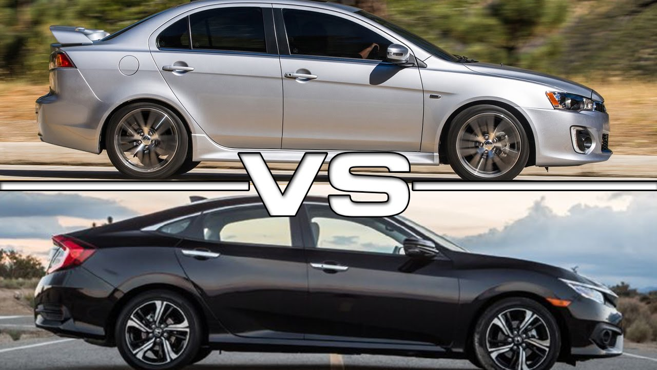 Lancer Gt 2018 >> 2016 Mitsubishi Lancer GT vs 2016 Honda Civic - YouTube