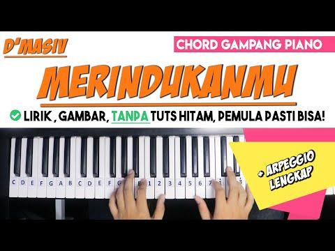 Tutorial Chord Piano D Masiv Merindukanmu Versi Gampang Untuk Pemula Youtube