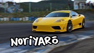 Ferrari 360 drifting ride-along. Supercar Sound Festival at Ebisu Circuit.