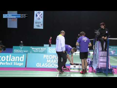 Badminton - Blair / Hall vs Beck / Kaesbauer (MD, R32) - Scottish Open 2015