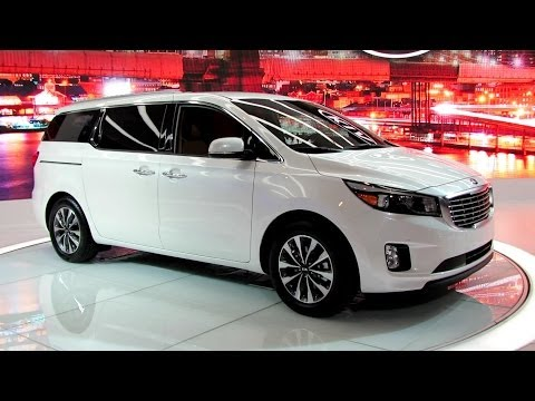 2015 KIA Sedona EX Exterior and Interior Walkaround Debut at 2014 New York Auto Show