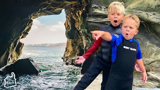 EXPLORING SECRET BEACH CAVES!