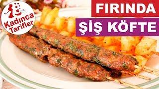 Fırında Çöp Şiş Köfte ve Patates Tarifi Nasıl Yapılır? | Videolu Yemek Tarifleri | Kadınca Tarifler