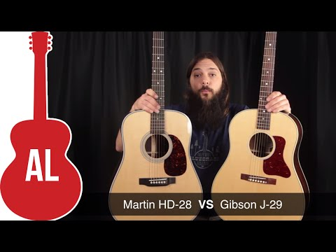 Martin HD-28 vs Gibson J-29 - Is the J-29 REALLY one better?
