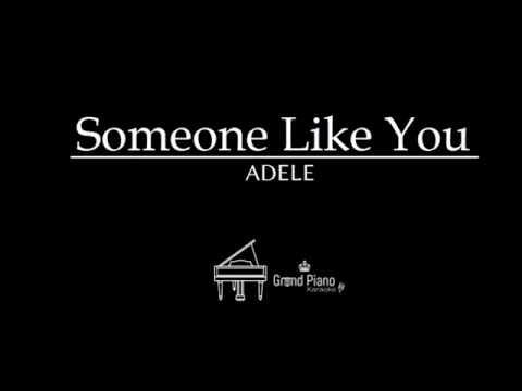 Someone Like You - Adele   Piano Karaoke