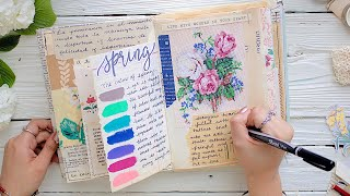 Journal With Me | Collaged Paper Scraps