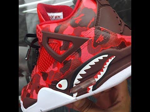 HOW TO: Make Custom  Bape Jordan 4s Tutorial