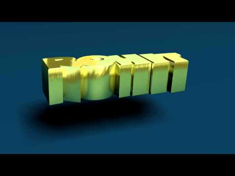 Rohit 3D Name - Gold Spinning Text