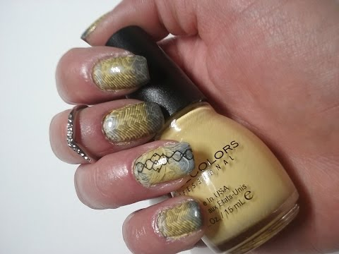 Yellow & Grey nails tutorial