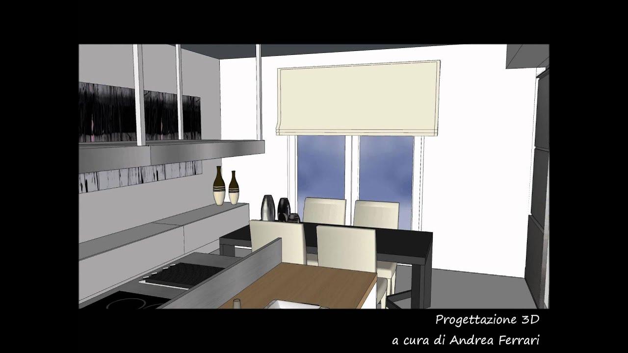 Progettazione 3D Cucina VARENNA POLIFORM a cura di Andrea ...