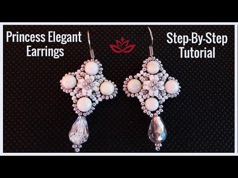 Princess Elegant Earrings - Tutorial