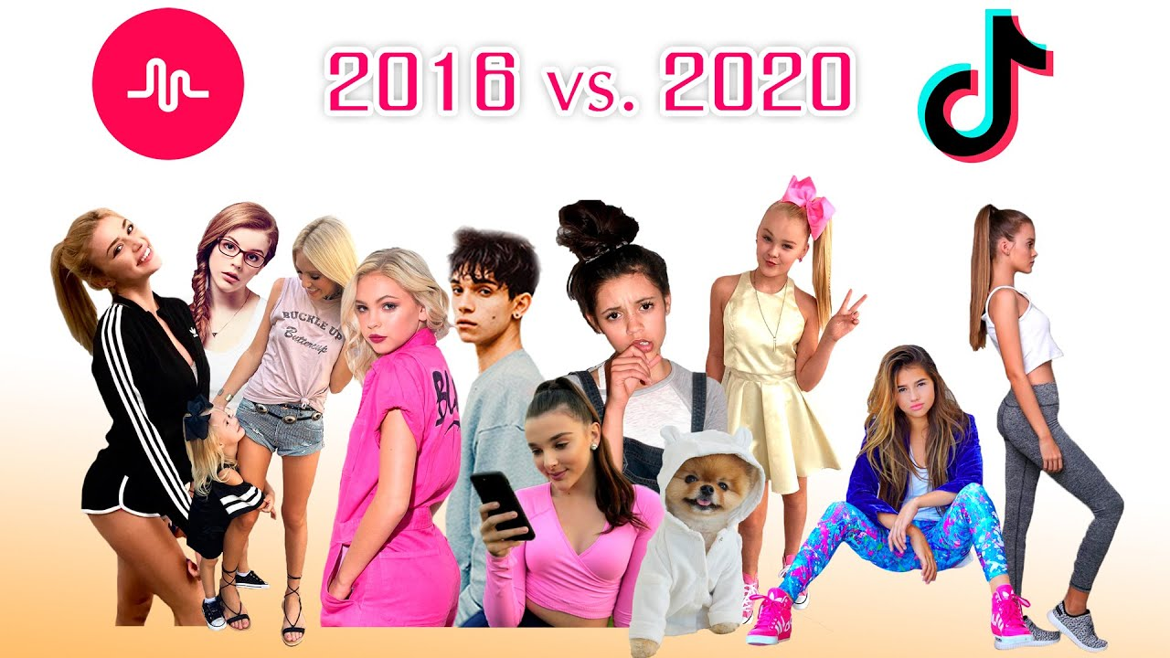 Musical.ly Stars Then at 2016 vs Now on TikTok 2020 - Then and Now Battle