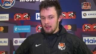 Иван Беляков после матча «Амурские Тигры» - СКА-1946 (29.01.2018)