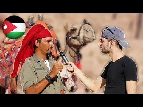 DESERTO: Cosa i BEDUINI pensano degli ITALIANI ? Domande in Giordania - thepillow