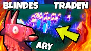 BLINDTRADEN with REICHEM PLAYER !!! - all lost - in Fortnite save the world feat. RealAry