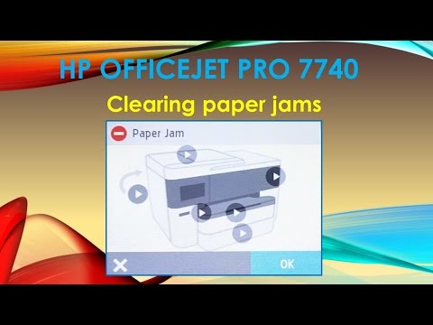 HP Officejet Pro 7740 : Clearing paper jams - YouTube