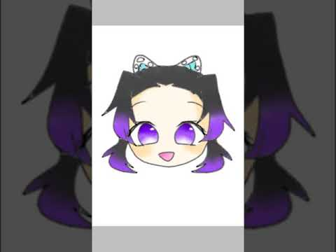 胡蝶しのぶイラスト簡単ミニキャラ