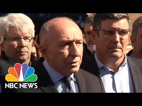 French Interior Minister Gerard Collomb Gives Details On Trebes Terror Attack | NBC News