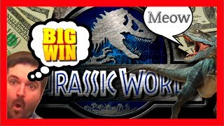 NEW! HUGE WIN! Jurassic World Slot Machine LIVE PLAY and BONUSES