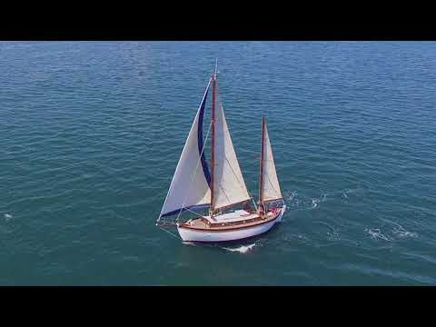 "Tahiti Ketch ""Gaviria II"" taken by Drone in Southern France"