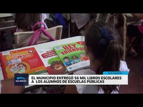 EN SAN MARTÍN SE ENTREGARON LIBROS A TODOS LOS CHICOS DE ESCUELAS PÚBLICAS
