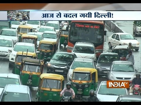 Delhi Wakes Up to the Odd-even Formula on New Year 2016