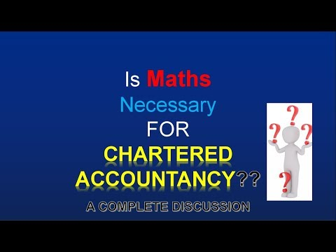 IS CA POSSIBLE WITHOUT MATHS●Is Maths compulsory for chartered accountancy course●maths problm●HINDI