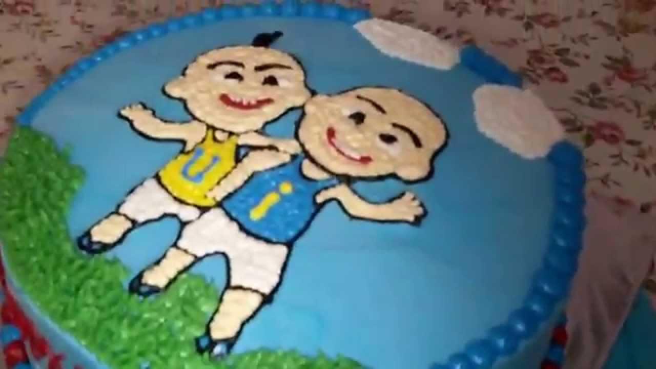Upin Ipin Blue Cake Theme YouTube