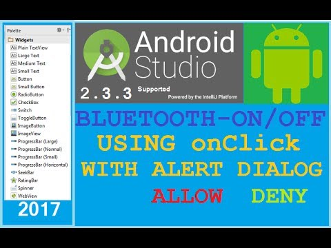 #11 Android studio tutorial - How to enable/disable Bluetooth  programmatically in android  NEW