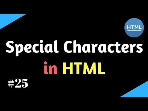 Special Characters In HTML | Learn HTML In Hindi | Shiva Web Tutorial