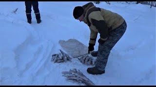 Рыбалка на ХАРИУСА 4 морозных дня в тайге Часть 6 Глухарь Завершение