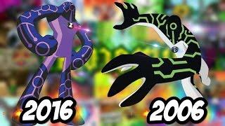 ben 10 2006 vs ben 10 2016 antes y despues ben 10 original vs ben 10 reboot
