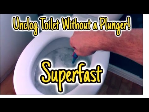 Unclog Toilet Without Plunger super fast