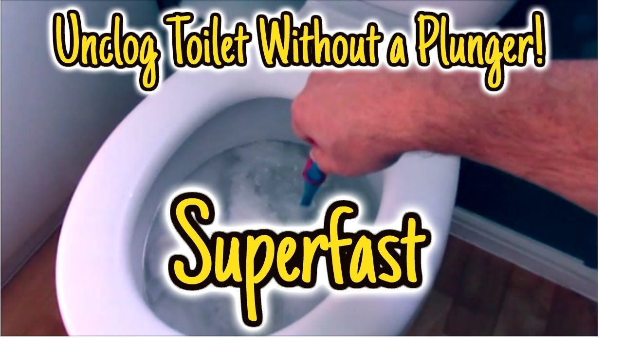 Unclog Toilet Without Plunger super fast - YouTube