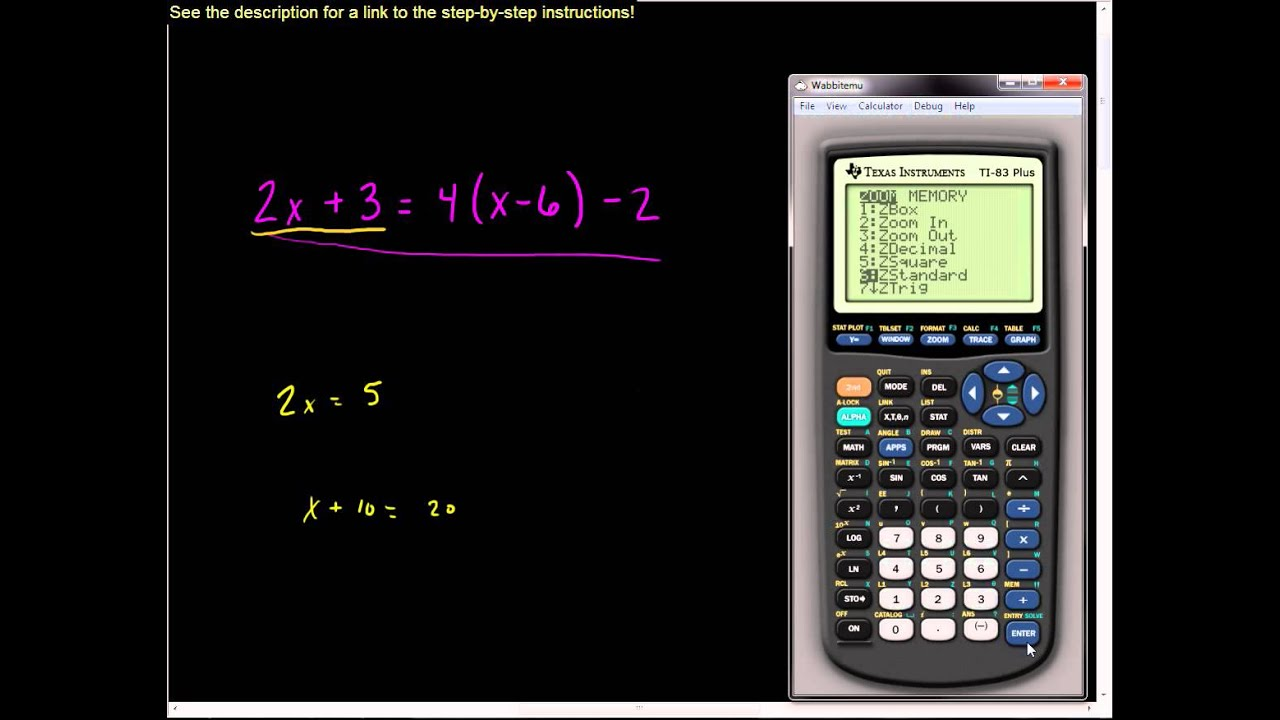 Equation Solver Calculator With Fractions