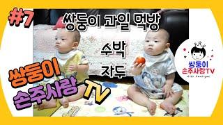 [손주사랑TV] 7편 과일먹방, 수박, 자두 먹기