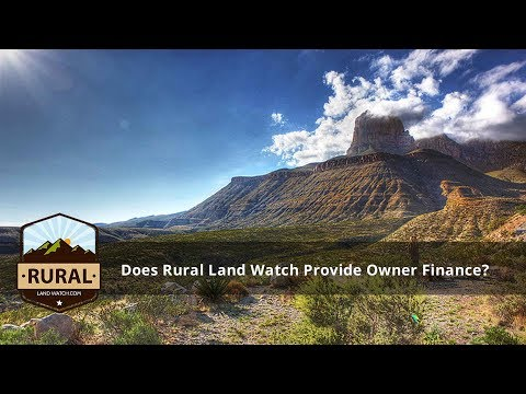 Does Rural Land Watch provide any owner finance of your properties?