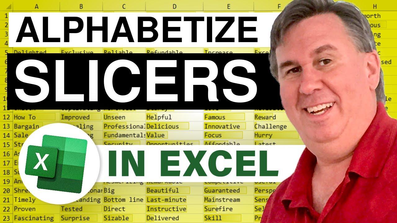 Learn Excel - Sort Slicers - Podcast 2069