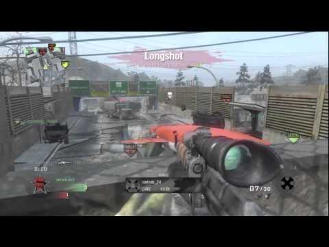 CALL OF DUTY BLACK OPS - SEARCH & DESTROY - 1st TIME as a SNIPER |