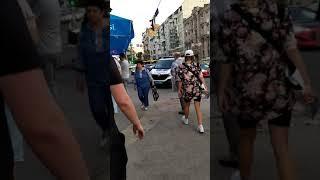 ДТП Киев  Саксаганского Толстого 19.08.19 Tesla vs RangeRover