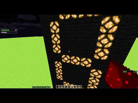 Build a Digital Clock in MINECRFAT! Part 1/2 (SIMPLE!)