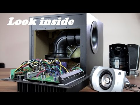 look-inside-logitech-z-5500-5.1-speakers-+-trying-to-remove-sub-grill